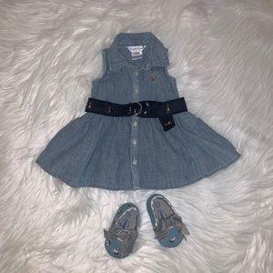 Ralph Lauren Chambray Sleeveless Dress 3M